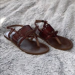 mossimo sandals size 6 1/2